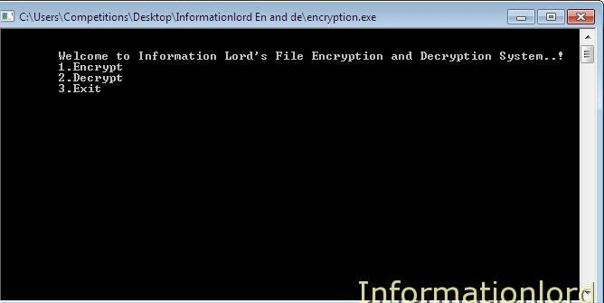 C++ Encrypter and Decrypter Software