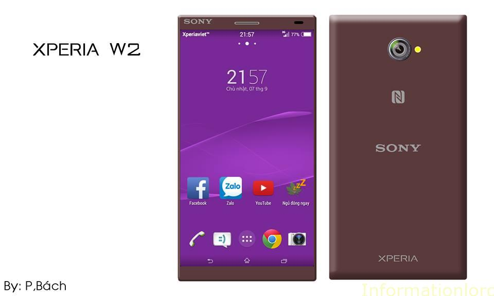 Sony Xperia W2 Chocolate Brown