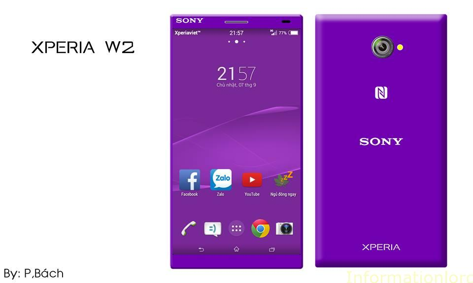 Sony Xperia W2 Purple