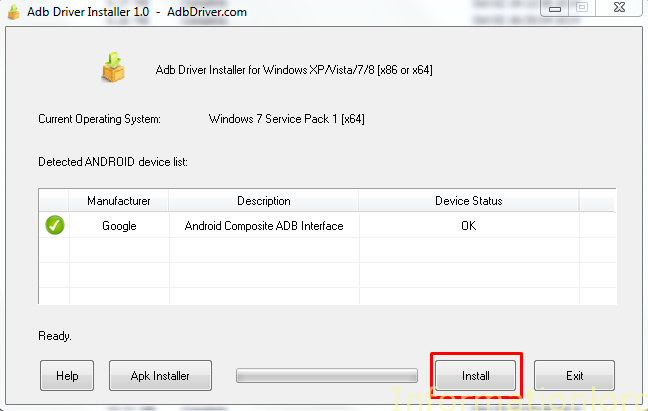 adb drivers installer for android one