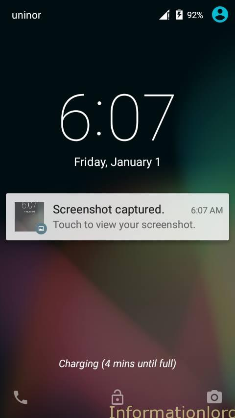 Android Lollipop Lockscreen