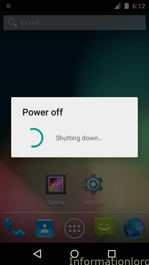 Android Lollipop Shutting Down