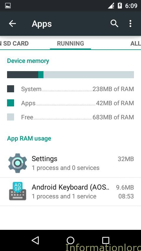 Android Lollipop Task Manager