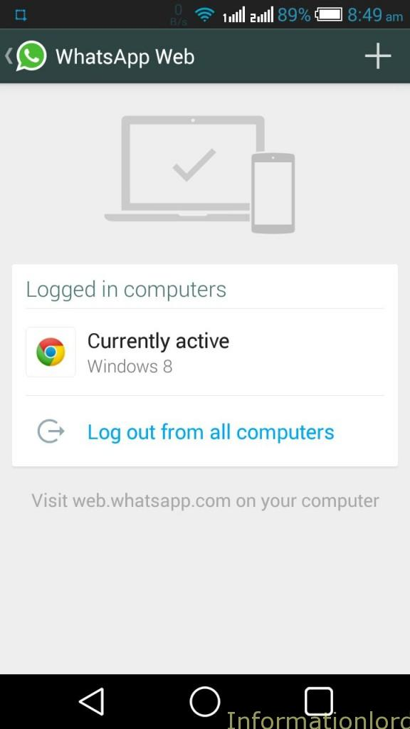 Whatsapp Veb Add or Logout