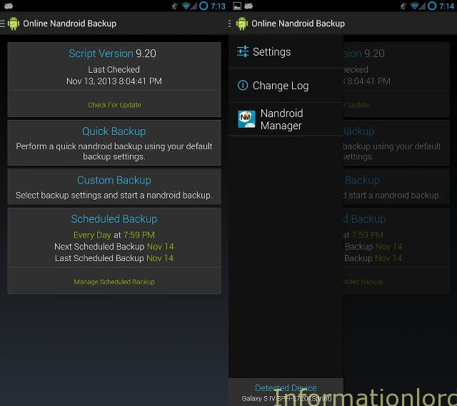 Create Online Nandroid Backup On Android Phone