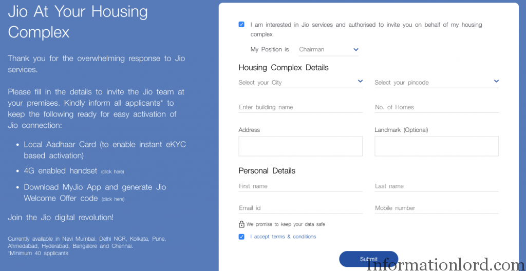 Easy Invite Jio Team to Housing Complez