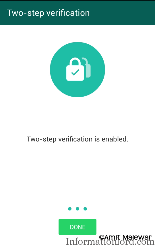 Set up Two step Login in Whatsapp