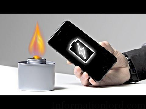 Charge phone with fire or candle