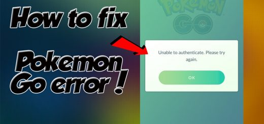 Easy method to solve pokemon go authenticate error